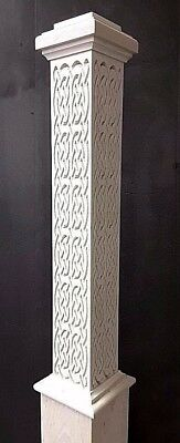 """Carved Box Newel Post 6""""  Celtic #1 Maple; 10% Off For Large Orders"""