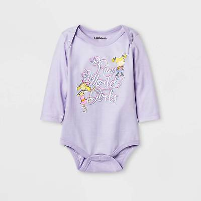 Baby Girls' Rugrats® Who Run the World Long Sleeve Bodysuit - Blue