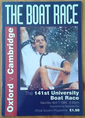 The 141st University Boat Race Official Souvenir Programme 1995 Oxford Cambridge
