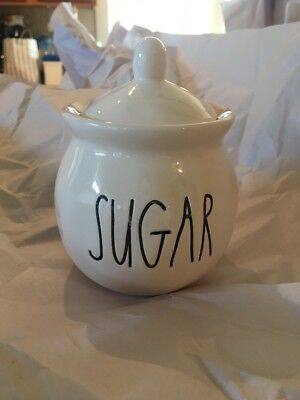 RAE DUNN Collectible SUGAR Bowl Small Canister Dish NEW