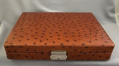 DUNHILL Leather Embossed Ostrich Cigar Box Humidor