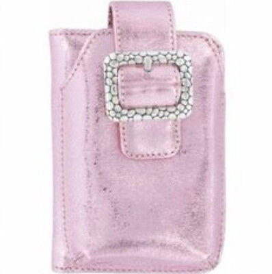 BRIGHTON NWT $70 Leather Wristlet Purse Phone Credit Card Case METALLIC PINK