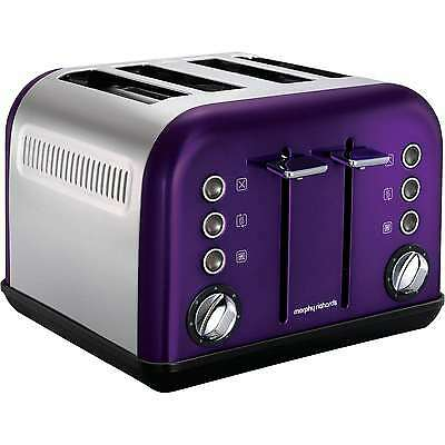 Morphy Richards Accents 4 Slice Wide Slot Toaster Purple Variable Width 242016