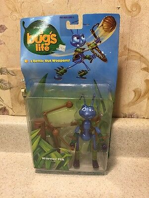 New 1998 Disney Pixar A Bug's Life Warrior Flik Figure Mattel