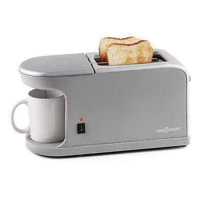 Doulble Slit Toast Toaster Machine 2 Slice Bread Coffee Maker Fresh Brew Led