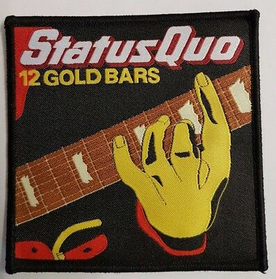 Status Quo 12 Gold Bars Iron/Sew on Patch