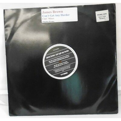 James Brown Can't Get Any Harder Very Rare Promo Copy Vinyl C&C Mixes