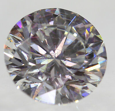 Certified 1.58 Carat F VS2 Round Brilliant Enhanced Natural Diamond 7.42mm 3EX