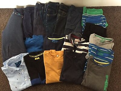 Large Boys Bundle 9-10 Tops Jeans Jumpers Pajamas M&S Next Blue Zoo