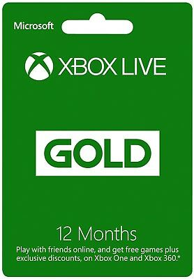 12 Month Xbox Live Gold Subscription Card Code for AU 360 One