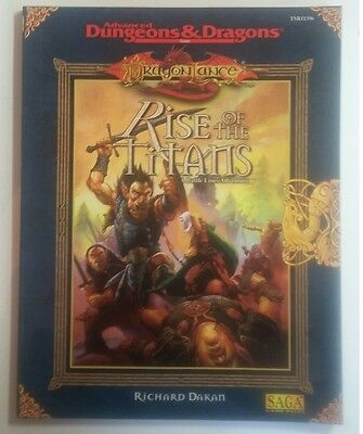 RISE OF THE TITANS Dragonlance Advanced Dungeons and Dragons AD&D SC TSR 11396