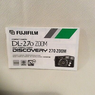 Fuji Dl-270 Zoom Camera Instruction Book