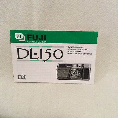 Fuji Dl-150 Compact Camera Instruction Book