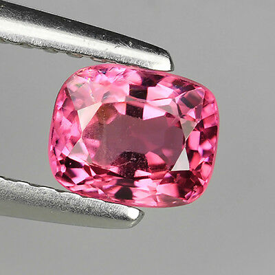 0.78 Ct Unheated Great Quality Natural Pink Spinel Cushion Cut Loose Gemstones