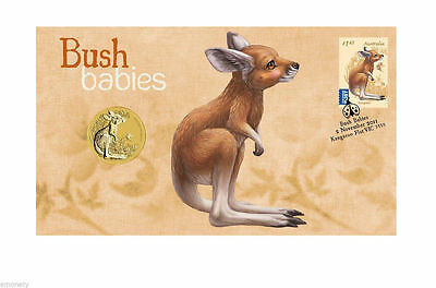 AUSTRALIAN 2011 Bush Babies KANGAROO Stamp $1 Coin Cover NEW
