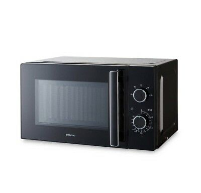 New Black Microwave 700Watt Free Standing 17L 3Yrs Warranty 5Power Level Defros