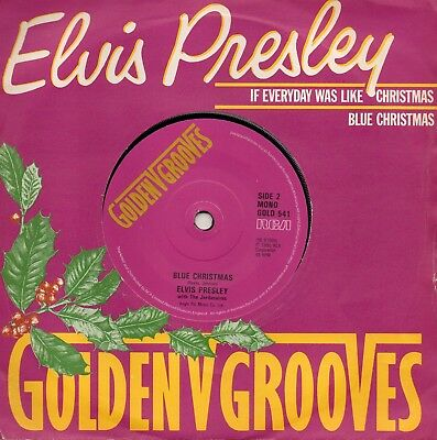 Labels! 1980 - Elvis Presley - If Every Day Was Like Christmas / Blue Christmas
