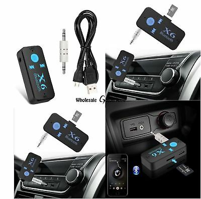 3.5mm AUX Car Bluetooth 4.1 Receiver Speaker Music Streaming Audio Adapter Mic