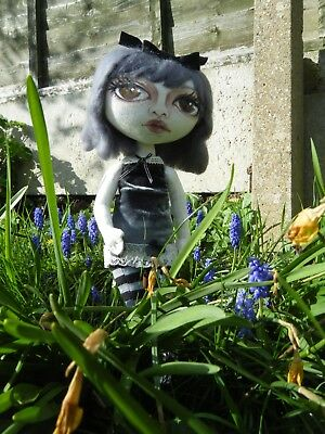 OOAK cloth textile doll goth girl Individual Attention dolls