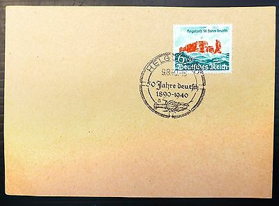 GERMANY HELGOLAND 1940 with Special 1st Day PMK AD326