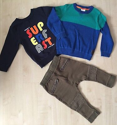 Boy Clothes 2x Sweaters And Trousers 2-3 Years