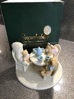 "DEPARTMENT 56 SNOWBABIES CHRISTMAS FIGURINE ""teddy Bear Tea"""