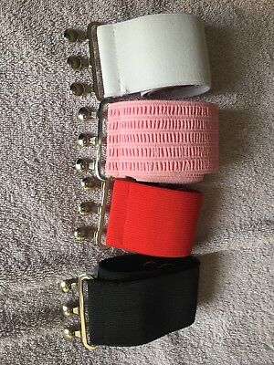 Vivien Of Holloway Assorted 2 inch Elasticated Dress Belts Immaculate Size L