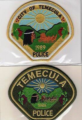 TEMECULA POLICE patches - CALIFORNIA