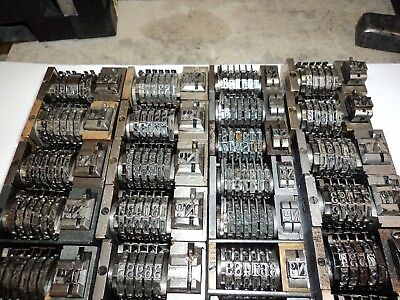 Letterpress Numbering BOXES
