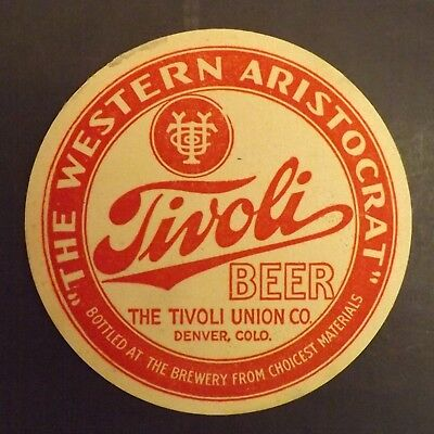 Vintage Tivoli Beer Coaster - Denver, CO - No Reserve!