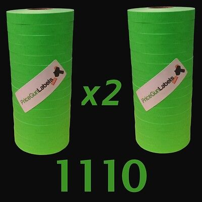 Labels for Monarch-Paxar 1110 price gun, Green labels, 2 sleeves = 32 rolls