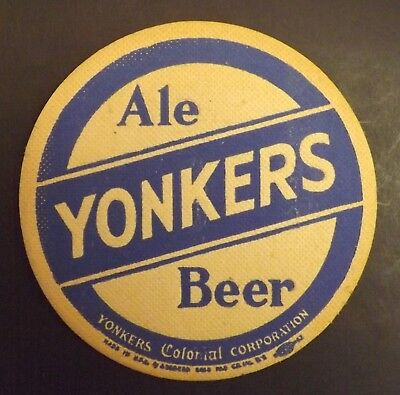 Vintage Yonkers Colonial Beer Coaster - Yonkers, NY - No Reserve!
