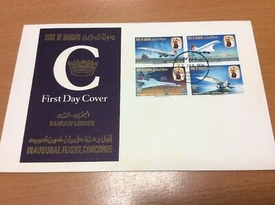 1976 Concorde State Of Bahrain Inaugural Flight Cover