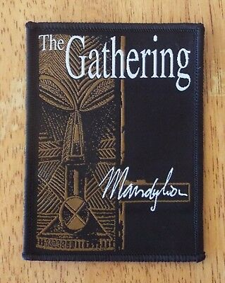 The Gathering Mandylion Black woven patch aufnäher limited edition hard rock