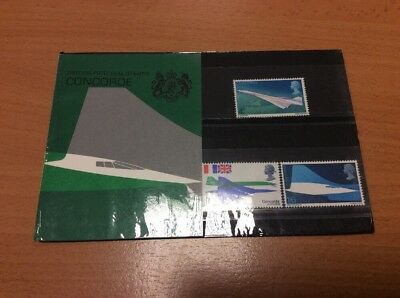 199 Concorde Min British Stamps Presentation Pack