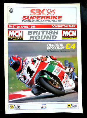 SBK Superbike World Championship Programme Donington Park  April 1996