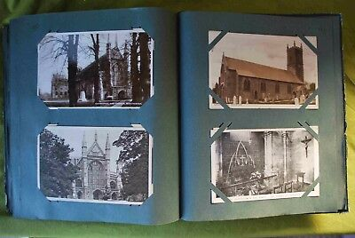 192 Vintage Postcards in an album. All in good condition.