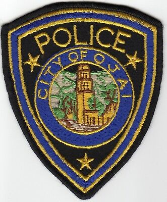 Defunct OJAI POLICE patch - CALIFORNIA