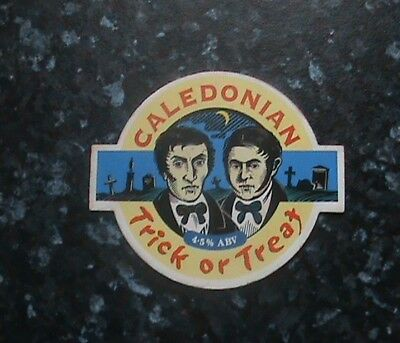 Caledonian Trick Or Treat Beer Pump Clip Sign