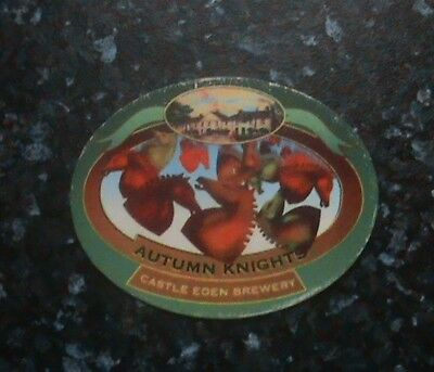 Castle Eden Autumn Knights Beer Pump Clip Sign
