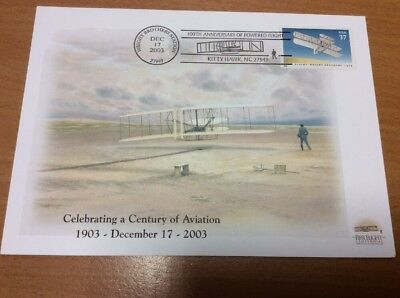 2003 Century Of Aviation Wright Brothers Kitty Hark Presentation Card