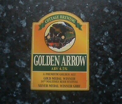 Cottage Golden Arrow Beer Pump Clip Sign