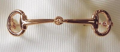 Snaffle Bit Stock Pin - Rose Gold, Showing, Dressage, Hunting, Eve Performance