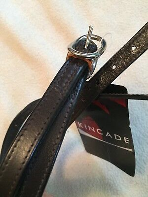 New Kincade Double Stitched Brown Leather Spur Straps Adult BNWT
