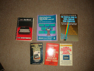 lot of 6 timex sinclair/home computer books vintage