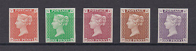 Lot:23576  GB Penny Black re production issue VR edition multi coloured se
