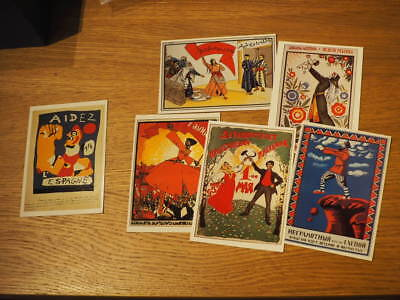 """""""Russian Revolution Posters"""". Postcards."""