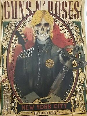 3 GUNS N ROSES Madison Square Garden New York  Lithograph posters