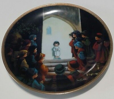 Precious Moments Bible Story Jesus In The Temple 1992 Plate