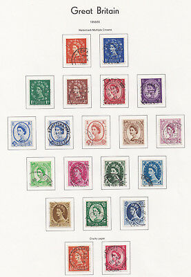 Lot:23608  GB QEII  Pre decimal album pages from 1957 commemorative stamps and w